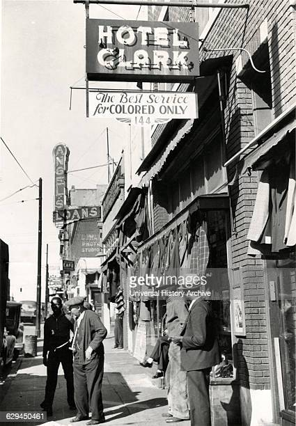 Group of Men outside Secondhand Clothing Stores and Pawn Shop Beale Street Memphis Tennessee USA 1939