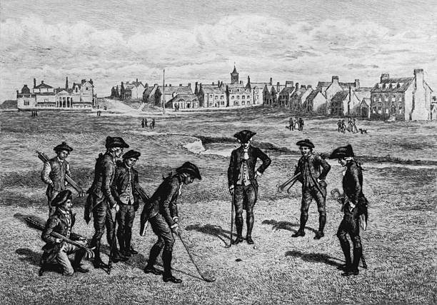 A group of men playing golf at the Royal and Ancient...
