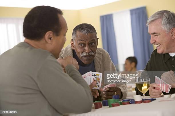 Group of men playing poker