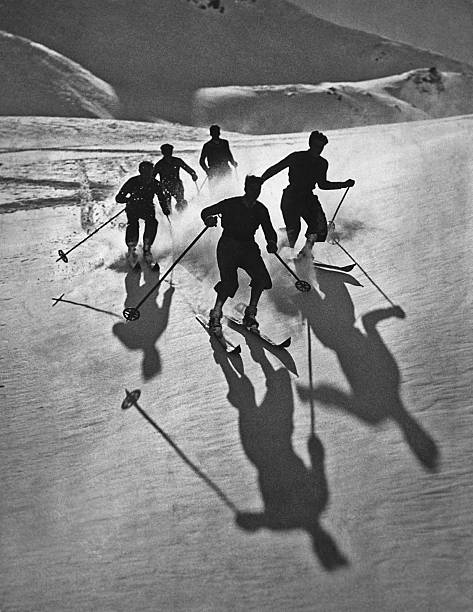Skiers And Shadows