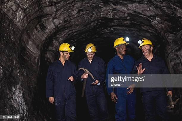 Group of miners at a mine