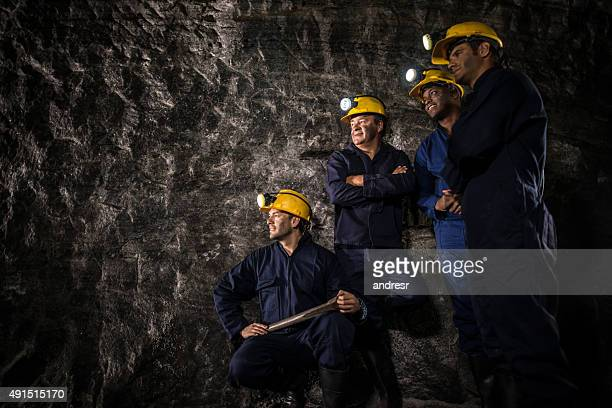 Group of miners on a break