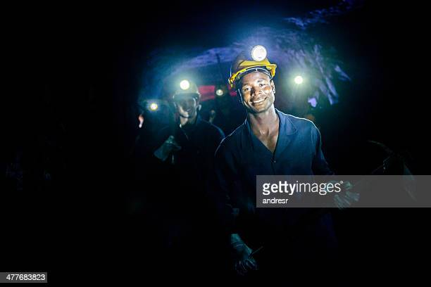 group of miners - underground mining stock photos and pictures