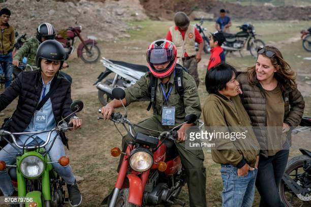 A group of Minsk enthusiasts from mostly from northern Vietnam gather for an Minks offroad tournament on November 5 2017 in Hanoi Vietnam A new...