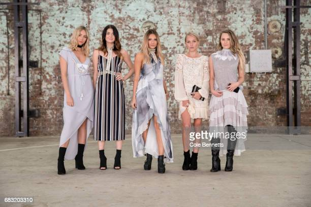A group of models wear Ixiah during MercedesBenz Fashion Week Resort 18 Collections at Carriageworks on May 15 2017 in Sydney Australia
