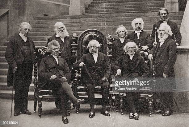 Group of moderators and ex-moderators of the Free Church of Scotland assembly, 1860. The Free Church withdrew from the Church of Scotland during the...