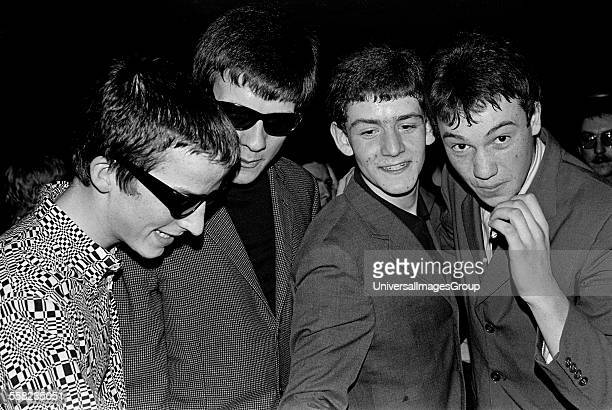 A group of Mods 2 Tone fans at a gig Hastings 1981