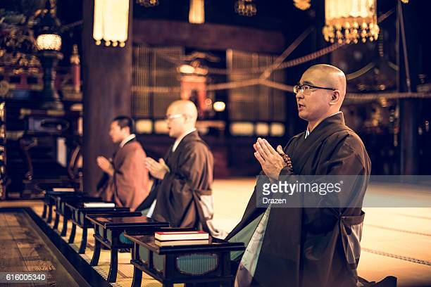 Group of monks in Chijon-ji Temple, Kyoto