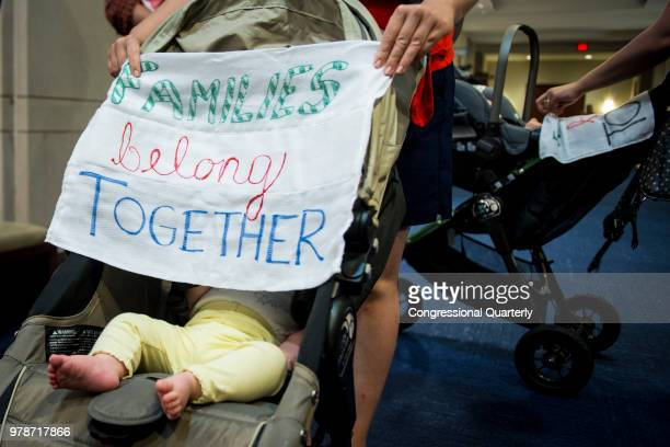 A group of mothers and their children protesting the separation of families at the southern border are escorted out of the Oversight of the FBI and...