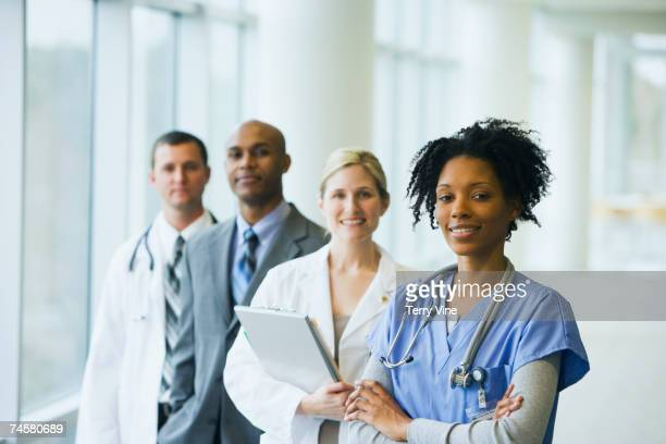 group of multi-ethnic medical professionals - group of doctors stock pictures, royalty-free photos & images