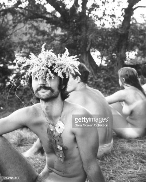 A group of naked festivalgoers in 'Woodstock' Michael Wadleigh's 1970 documentary film on the Woodstock Festival held in Bethel New York in August...