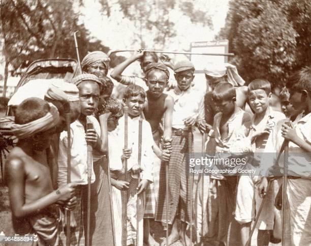 Group of native boys at Colombo - Ceylon, Sri Lanka, 1901.