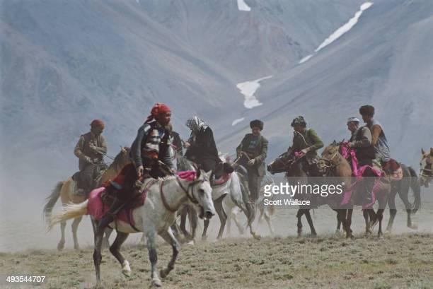 A group of nomadic horsemen in the Wakhan Corridor of northeastern Afghanistan 2004