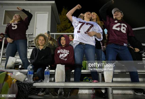 A group of North Dickinson fans during their home game against Phillips North Dickinson is a 300 student K thru 12 public school in a remote part of...
