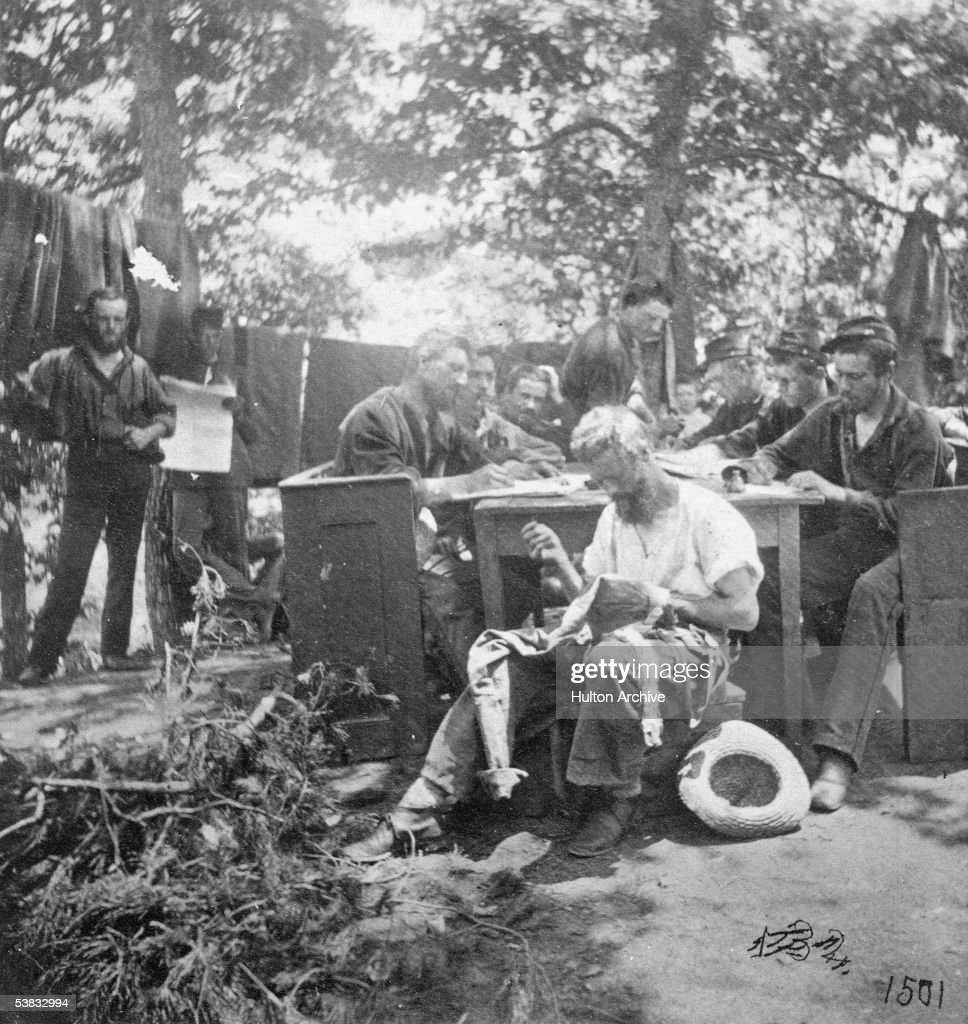 Union soldiers fill downtime during civil war pictures getty images a group of northern soldiers from the army of the potomac takes advantage of a respite aljukfo Image collections