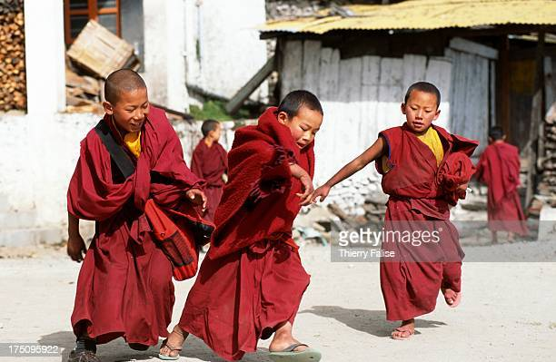 A group of novices is playing before going for class