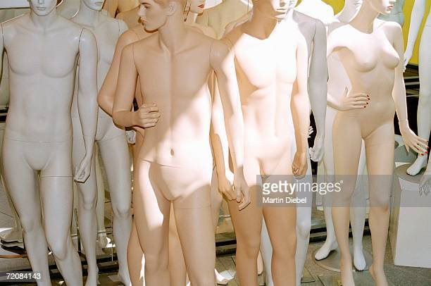 Group of nude mannequins