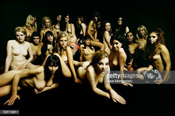 A group of nude models photographed for the cover of the Jimi Hendrix album 'Electric Ladyland' London 1968