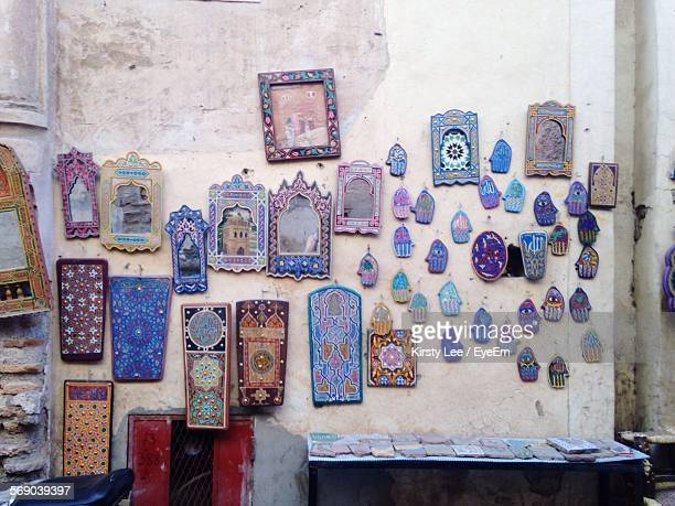 Group Of Objects Mounted On Wall