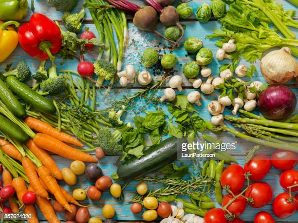 Group of Organic Vegetables