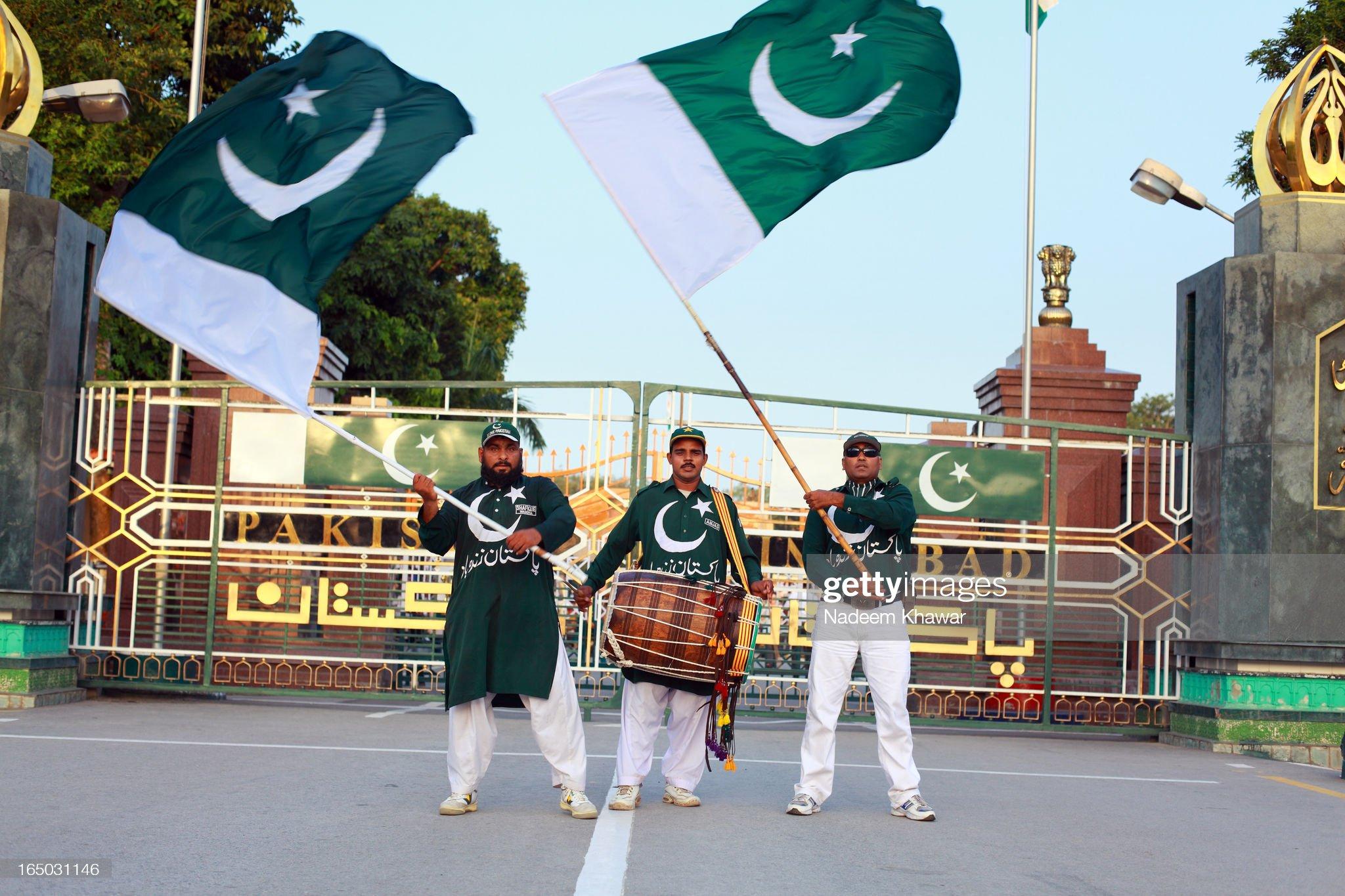 Wahga Border parade, Pakistan : News Photo