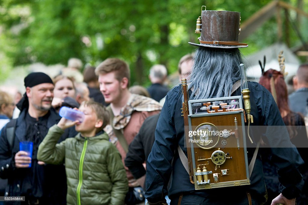 Group Of People And Mad Scientist On Wgt Leipzig High Res Stock Photo Getty Images