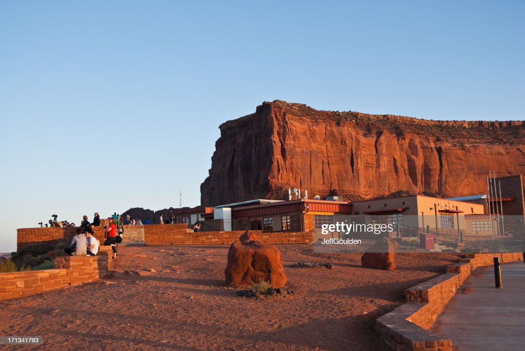 People at the Monument Valley Visitor Center : Stock Photo