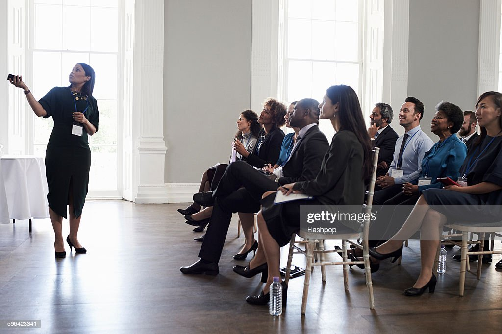 Group of people at a business conference : Stock Photo
