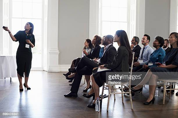 Group of people at a business conference