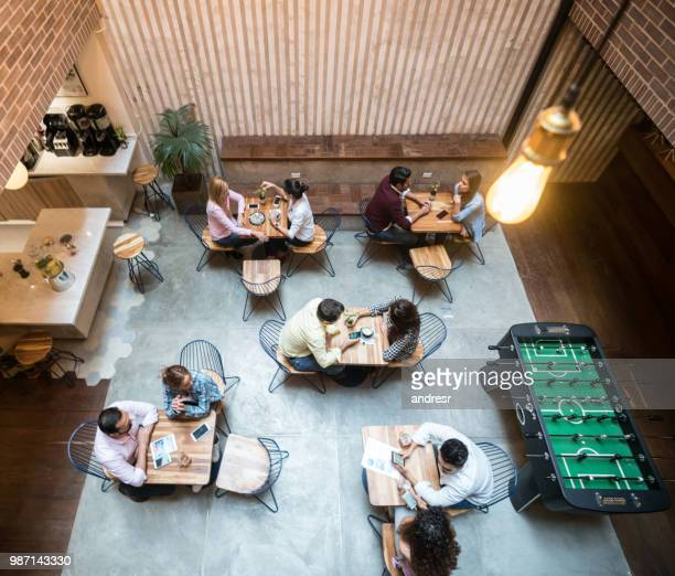 Group of people at a cafe