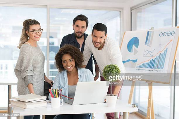 Group of people at a creative office