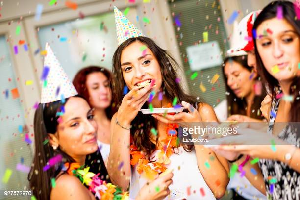 group of people at birthday party outdoors - 18 19 years stock pictures, royalty-free photos & images