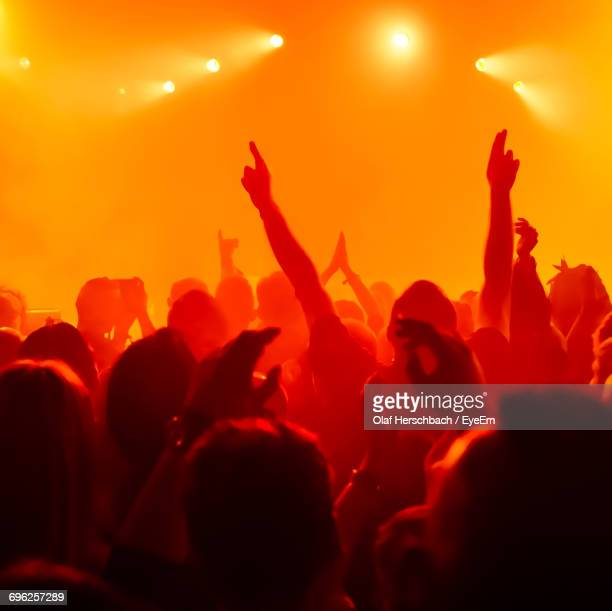 group of people at music concert - pop rock stock pictures, royalty-free photos & images