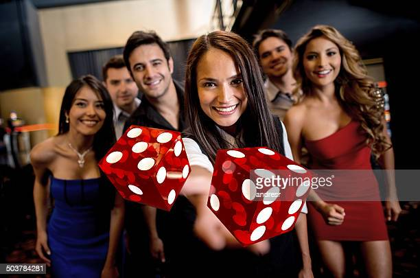 Group of people at the casino