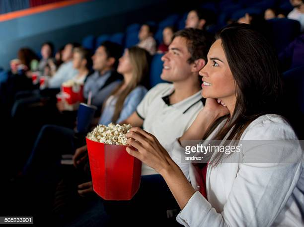 Group of people at the cinema