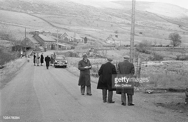 A group of people at the village of Capel Celyn in the Tryweryn Valley near Bala Merionethshire Wales 27th February 1957 In 1957 a private bill was...