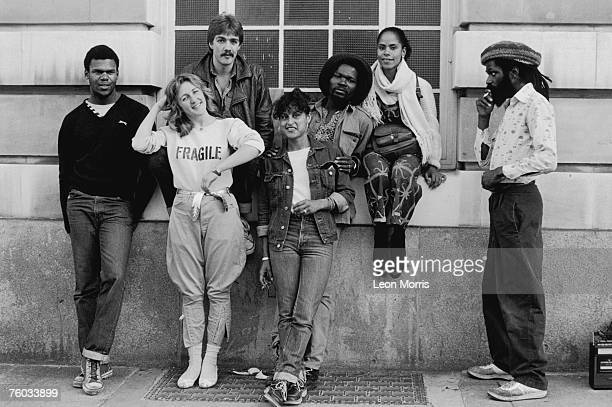 A group of people Brixton Town Hall for a music concert mid 1980s