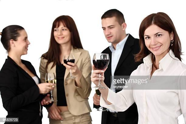 Groupe de personnes de célébrer leur réussite