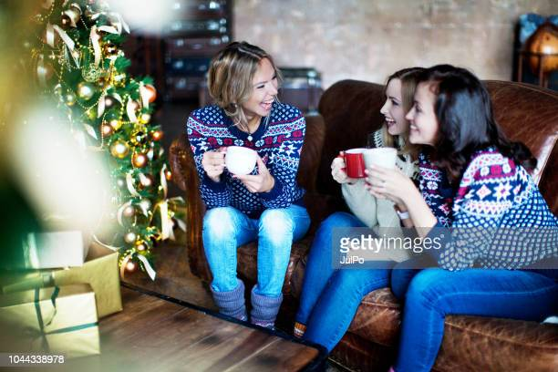 group of people celebrating christmas - christmas party stock photos and pictures