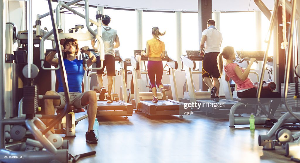 Group Of People Exercise in a gym. : Stock Photo