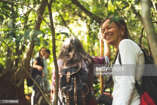 grupo de pessoas que exploram a selva - turismo urbano - fotografias e filmes do acervo