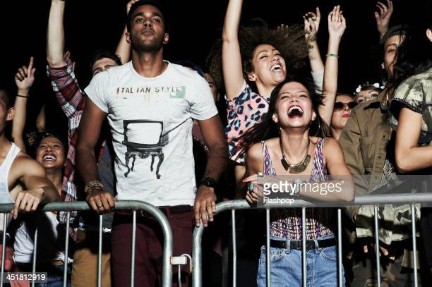 group of people having fun at music concert - chanting stock pictures, royalty-free photos & images