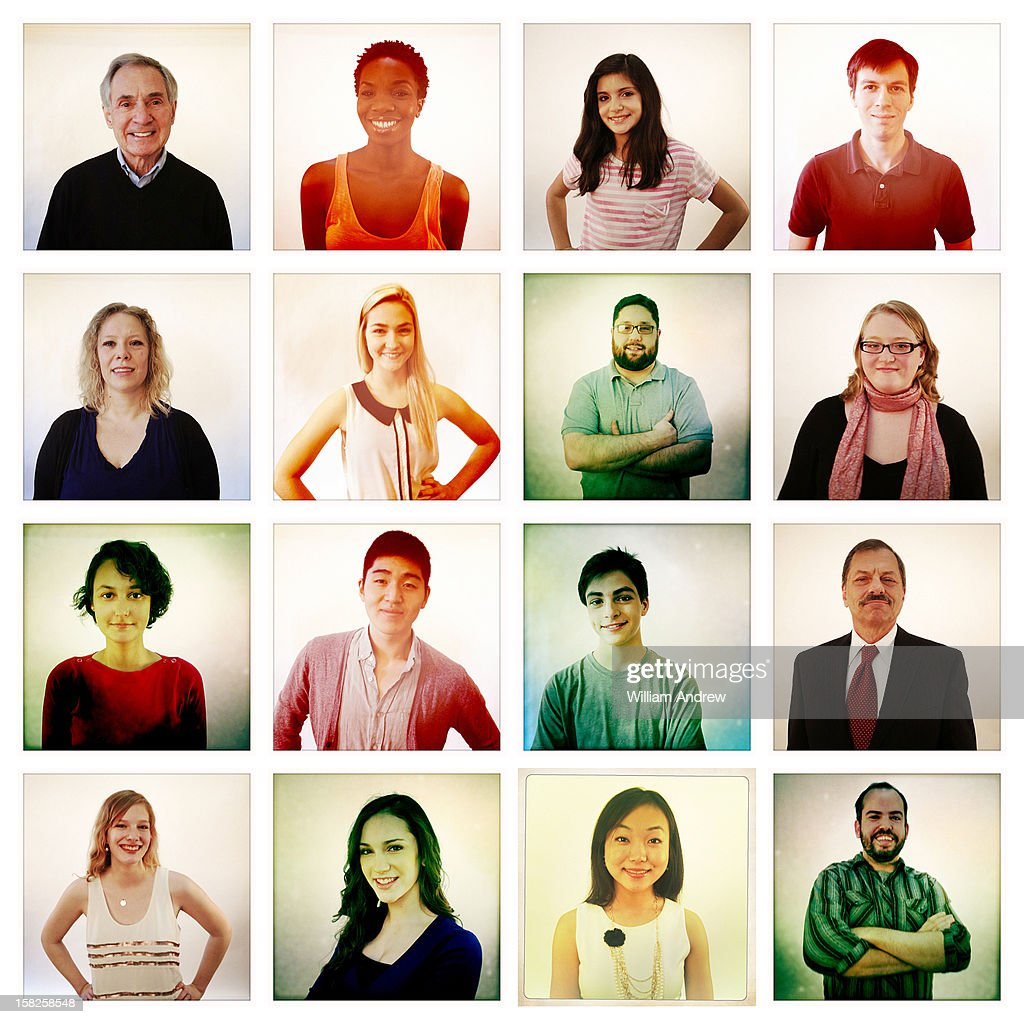Group of people illustrating social networking : Stock Photo