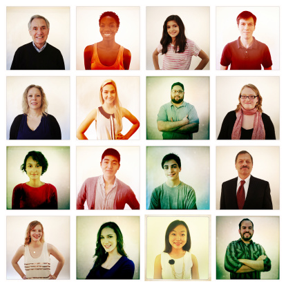 Group of people illustrating social networking - gettyimageskorea