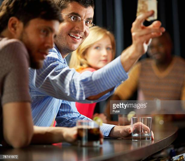 Group of People in a Bar