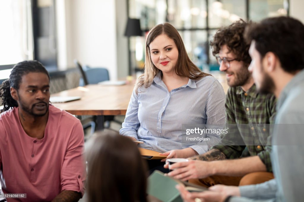Group of People in a Business Mentorship Program Learning New Strategies : Stock Photo
