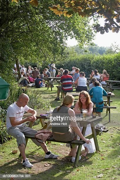 Group Of people in beer garden