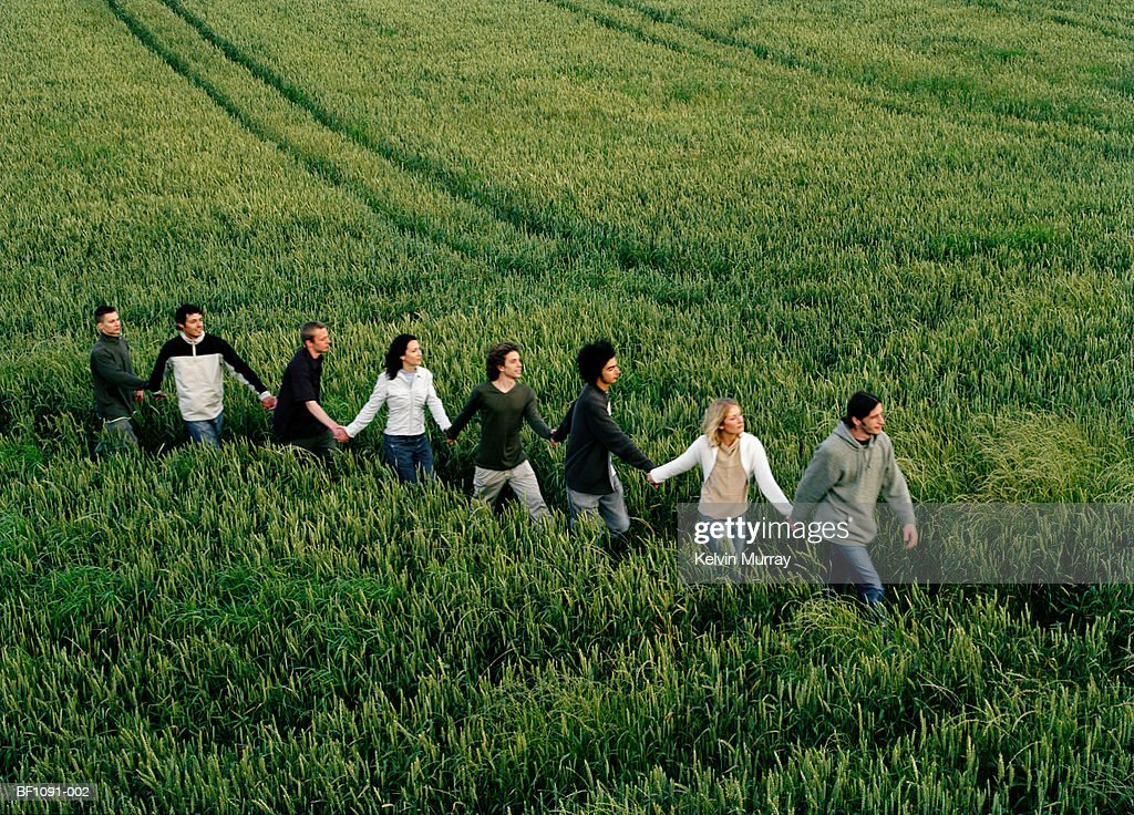 [Image: group-of-people-in-field-holding-hands-i...BF1091-002]