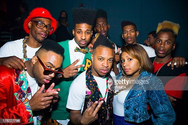 Group of people in Hip Hop style P Diddy vs Steve Angello Claude Vonstroke Cameo Club Miami Florida USA March 2008