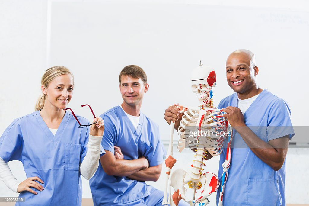 Group Of People In Medical School Anatomy Class Stock Photo Getty